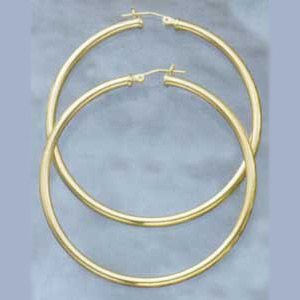 56MM Euro Hoop Tubular Earrings