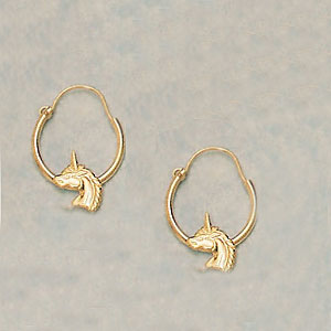 EARRINGS - UNICORN HOOPS