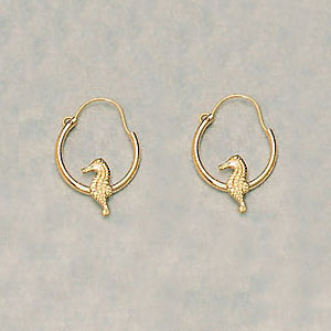 EARRINGS - SEAHORSE HOOPS