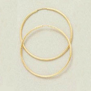 EURO ENDLESS HOOP EARRINGS-40MM