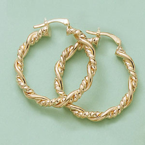 Braided Twist Hoop Earrings