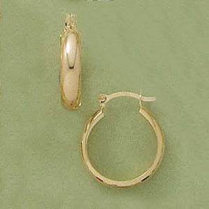 Small Rounded Plain Hoop