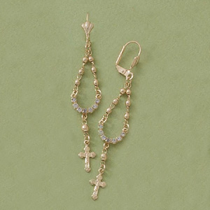 Dangling Rosary Earrings