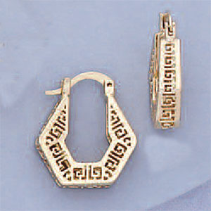 2416 - GREEK KEY PENTA EARRINGS