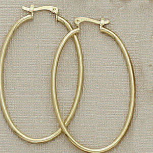 2422 - OVAL HOOP EARRINGS