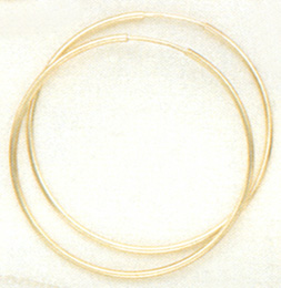 40MM EUROPEAN ENDLESTERLING SILVER HOOPS at Sunshine Jewelry