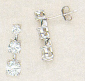 1.50 CARAT TW CZ STERLING SILVER
