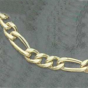 "20"" Extra Heavy Figaro Bracelet"