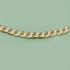 Flattened Curb Link Bracelet / Necklace