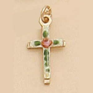 Small Cross with Enamel Painted Finish.