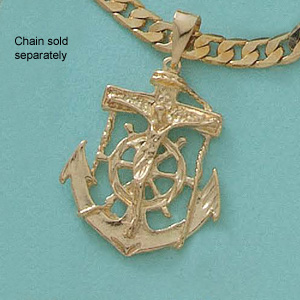 Mariners Anchor Cross Pendant