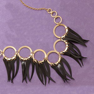 Black Spikes Necklace