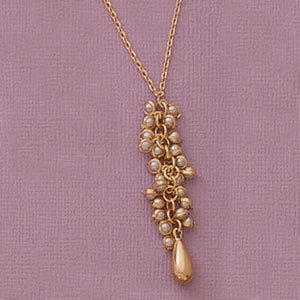 Cascading Mini Pearl Necklace