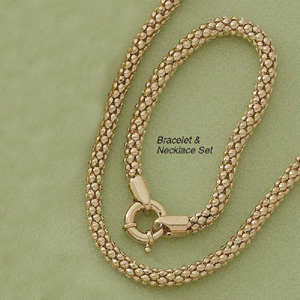 "Barrel Rope 7.5"" Bracelet and 20"" Necklace Set"
