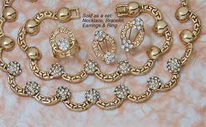 Eleganti Earring, Ring, Necklace & Bracelet Set