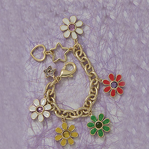 Enamel Flower Bracelet/ Necklace