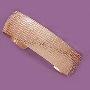 Wide Greek Key Cuff Bangle