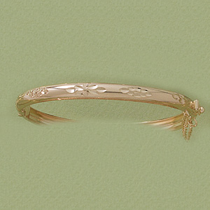 Diamond Cut Open & Close Bangle