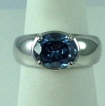 DR190 - SS OVAL SAPPHIRE RING (ONLY #7)