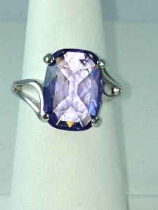 DR194 - SS MULTI-FACET AMETHYST RING (ONLY #7)