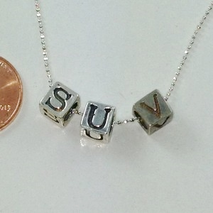 5548 STERLING SILVER INITIAL BLOCKS
