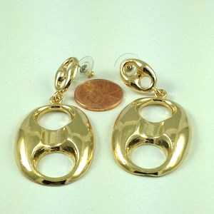 1534 - EXTRA LARGE PUFFED MARINER POST EARRINGS