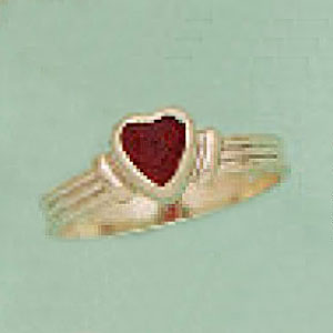 Siam Red Austrian Crystal Heart Ring