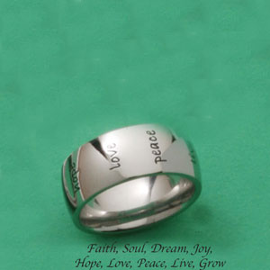 Stainless Steel Humanity Inspiration Ring