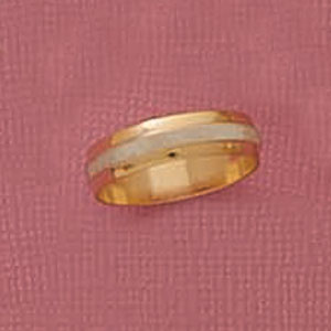 Two Tone Wedding Band Ring