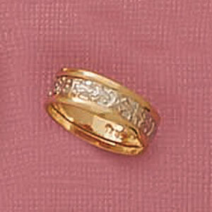 Two Tone Nugget Middle Band Ring