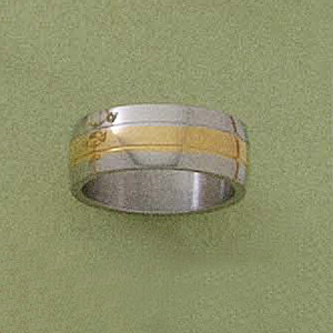 Two Tone Wide Band Ring