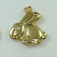 5345 - PUFFED BUNNY RABBIT CHARM