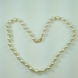 "DN074 - 18"" STRAND OF MALLORCA PEARLS AND GOLD FILLED BEADS"