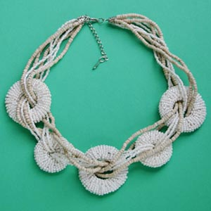 Multi-Strand Faux Seed Pearl Necklace