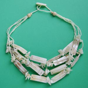 Multi-Strand Shell & Bead Necklace