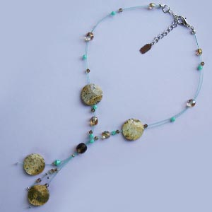 Genuine Exotic Stone and Bead Y-Necklace