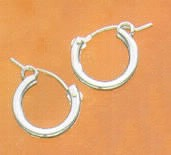 Sterling Silver Euro Hoop Earrings at Sunshine Jewelry