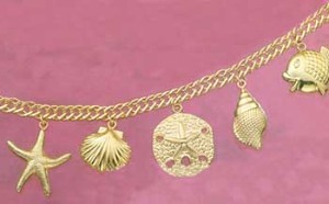 Puffed Seashore Charm Bracelet and Anklet at Sunshine Jewelry