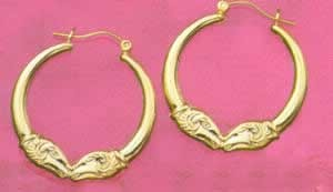 Puffed Kissing Rams Earrings at Sunshine Jewelry