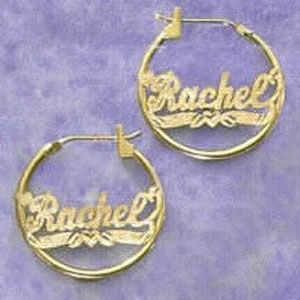 14K Gold Personalized Earrings at Sunshine Jewelry